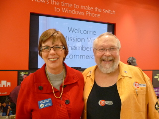 Cathy at Chamber Event - Microsoft Store